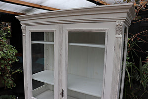 A BEAUTIFUL OLD PINE/ WHITE PAINTED GLAZED DISPLAY CABINET 💕 - oldpineshop.co.uk