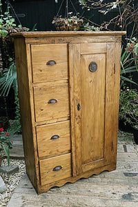 😍   FAB! OLD PINE FOOD CUPBOARD/ CABINET 😍 - oldpineshop.co.uk