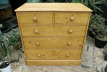 💕   GORGEOUS! LARGE OLD (VICTORIAN) PINE CHEST OF DRAWERS/ SIDEBOARD   💕 - oldpineshop.co.uk