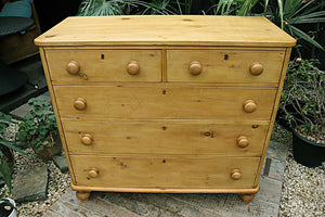 💕  LOVELY! LARGE OLD (VICTORIAN) PINE CHEST OF DRAWERS/ SIDEBOARD 😀 - oldpineshop.co.uk
