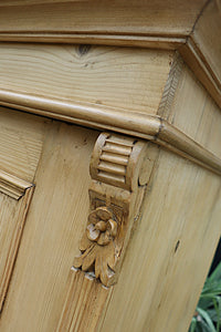 💜   LOVELY OLD PINE CUPBOARD/ WARDROBE  💜 - oldpineshop.co.uk