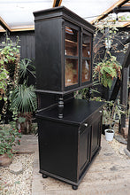 BEAUTIFUL OLD PINE/ BLACK PAINTED TWO PIECE DRESSER  ❤️ - oldpineshop.co.uk