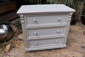 😍  OLD STYLE PINE/ GREY PAINTED CHEST (BEDSIDE?) DRAWERS/ SIDEBOARD 😍 - oldpineshop.co.uk