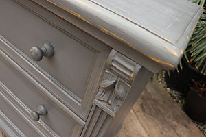 😃   OLD STYLE PINE/ GREY PAINTED (BEDSIDE?) CHEST DRAWERS/ SIDEBOARD  😀 - oldpineshop.co.uk