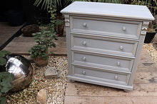 😍  LOVELY OLD STYLE PINE/ GREY PAINTED CHEST DRAWERS/ SIDEBOARD 😍 - oldpineshop.co.uk