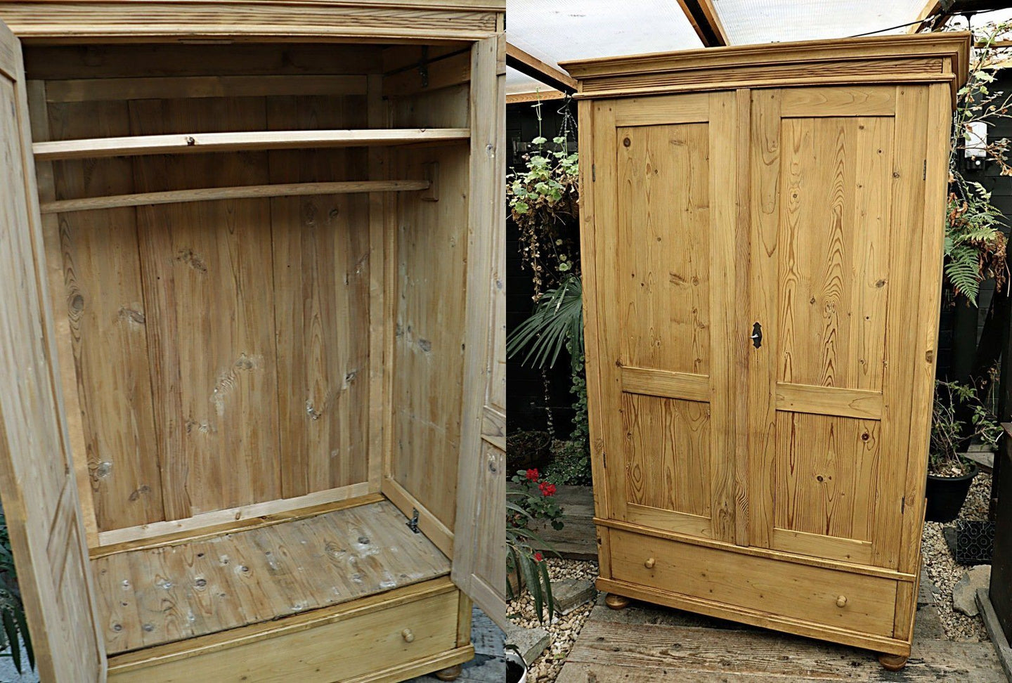 OLD PINE DOUBLE 'KNOCK DOWN' WARDROBE 💕 - oldpineshop.co.uk