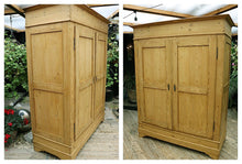 FABULOUS OLD VICTORIAN PINE DOUBLE KNOCK DOWN WARDROBE ❤️ - oldpineshop.co.uk