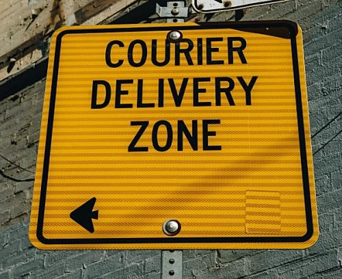 Details about courier delivery for the old pine shop