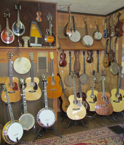 Front showroom showing a variety of instruments we sell