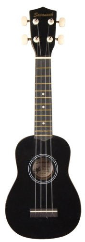 Savannah SU-105 PlayerPack Soprano Ukulele - Black, with Gig Bag
