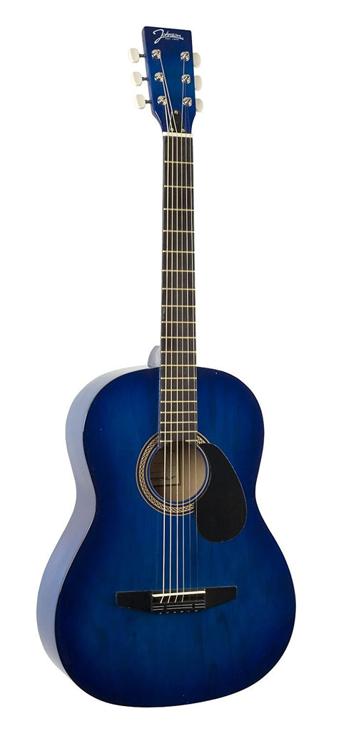 Johnson JG-100-BL Blue Acoustic Guitar