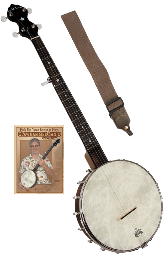 Gold Tone Cripple Creek A-Scale CC-OT-A Open Back Banjo with PlayerPac (Includes Padded Carrying Bag, Strap, and Instructional DVD
