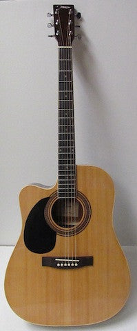 Johnson JG-624-CEN-L Acoustic-Electric Cutaway Guitar - Left Handed