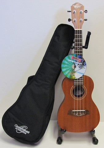 Oscar Schmidt OU-2-PAK Concert Ukulele with Player's Pack (Includes Gig Bag and Instructional DVD)