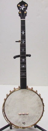 Mike Terris Curly Maple Bacon-Style Open Back 5-String Banjo