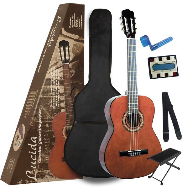 Lucida LK-2 Acoustic Classical Guitar PlayerPac (Includes Carrying Bag, Footstool, Guitar Strap, String Winder, Pitch Pipe)