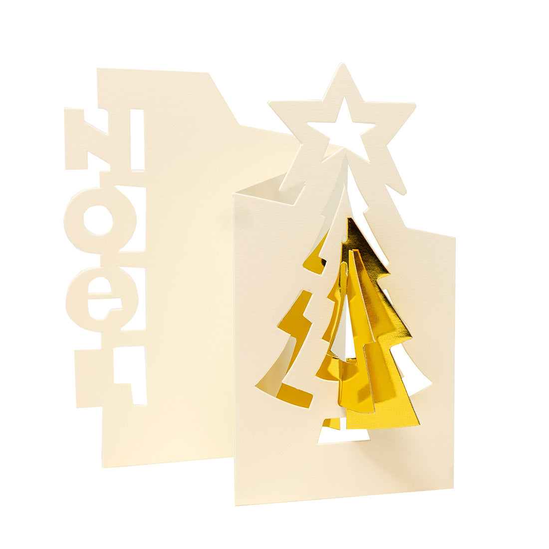 Image De Noel 3d.3d Die Cut Noel Holiday Cards
