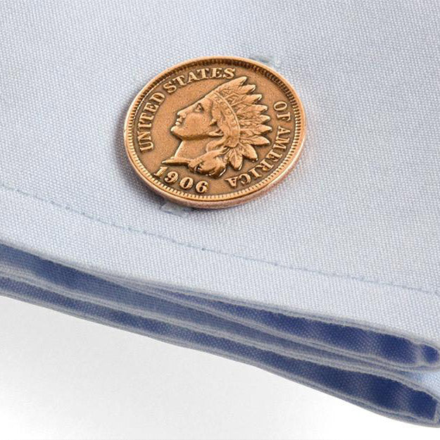 Indian Head Penny Cuff Links