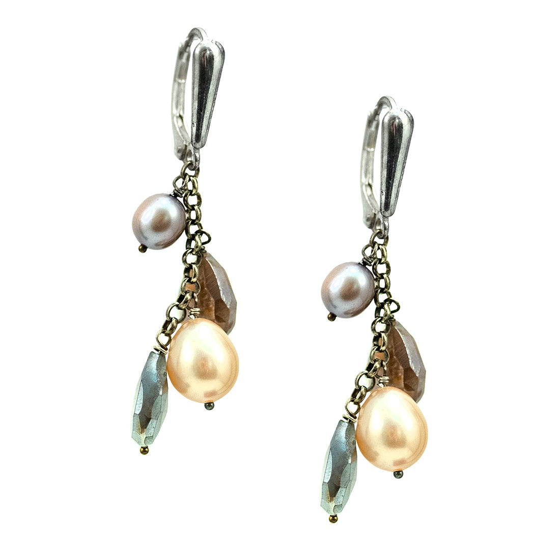 20df8185d de Young & Legion of Honor Museum Stores | Freshwater Pearl and Moonstone Cluster  Earrings