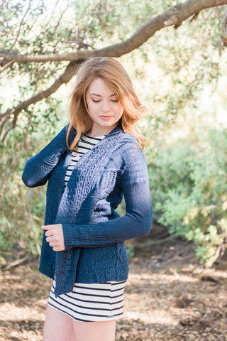 The Knit Cardigan in Navy