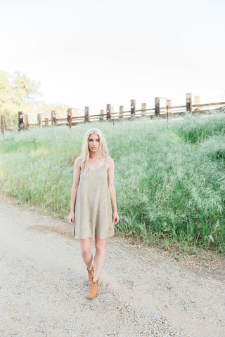 The Danielle Dress in Taupe