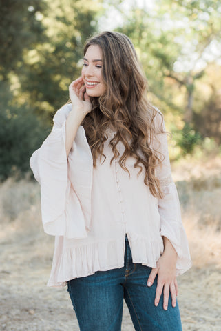 The Bohemian Ruffle Top