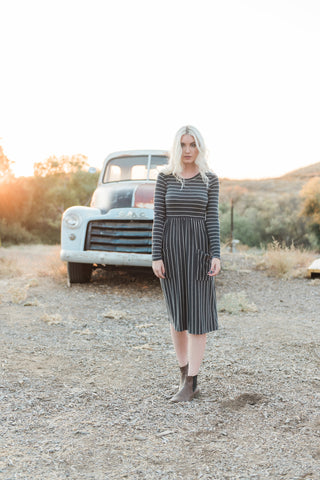 The Jaden Dress in Charcoal