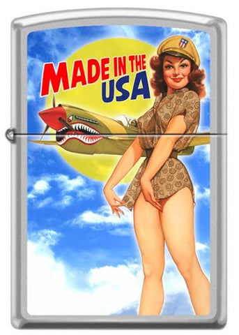 Baron von Lind Nose Art Made in the USA Pinup Zippo Lighter