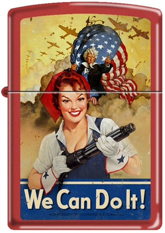 Baron von Lind Rosie the Riveter Pinup Girl Zippo Lighter