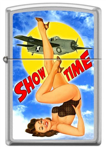 Baron von Lind Nose Art Show Time Pinup Zippo Lighter