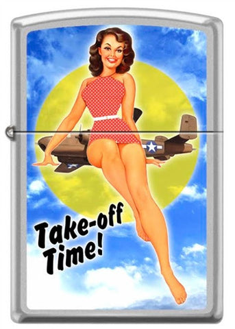 Baron von Lind Nose Art Take off Time Pinup Zippo Lighter