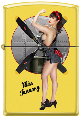 Calendar Girl Claire Sinclair Zippo Lighter January