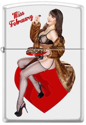 Calendar Girl Claire Sinclair Zippo Lighter February