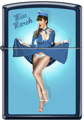 Calendar Girl Claire Sinclair Zippo Lighter March