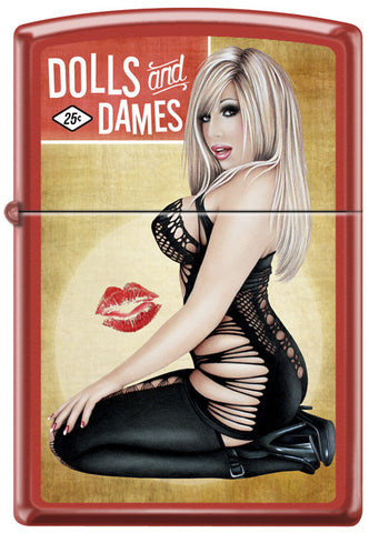 Dolls & Dames Blonde Pinup Girl Zippo Lighter