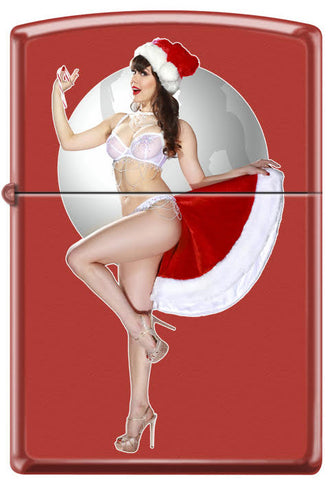 Calendar Girl Claire Sinclair Zippo Lighter December