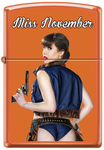 Calendar Girl Claire Sinclair Zippo Lighter November