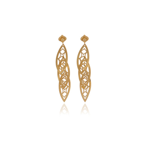 Three Leaf Chandelier Line Earring - Georgina Jewelry
