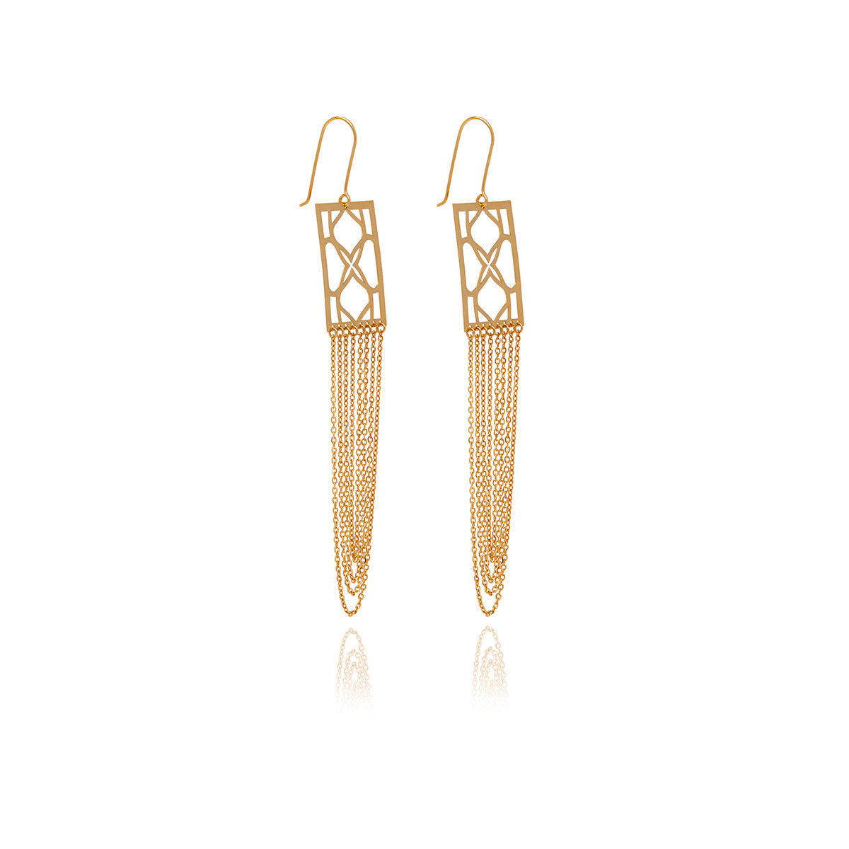 Signature  Rectangle Earrings - Georgina Jewelry