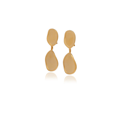 Gold Petal  Earrings