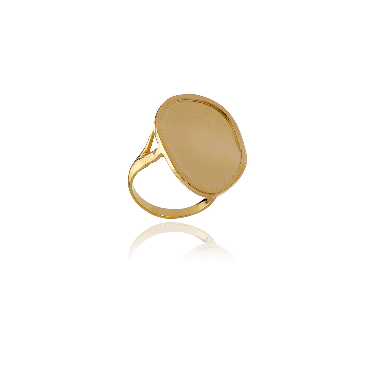 Gold Foil Long Ring - Georgina Jewelry