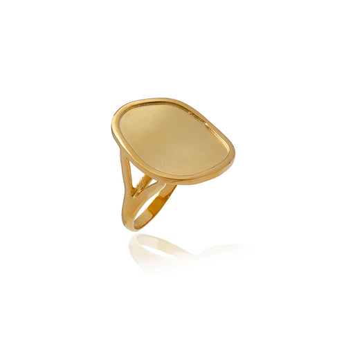 Gold Foil Mate Ring - Georgina Jewelry