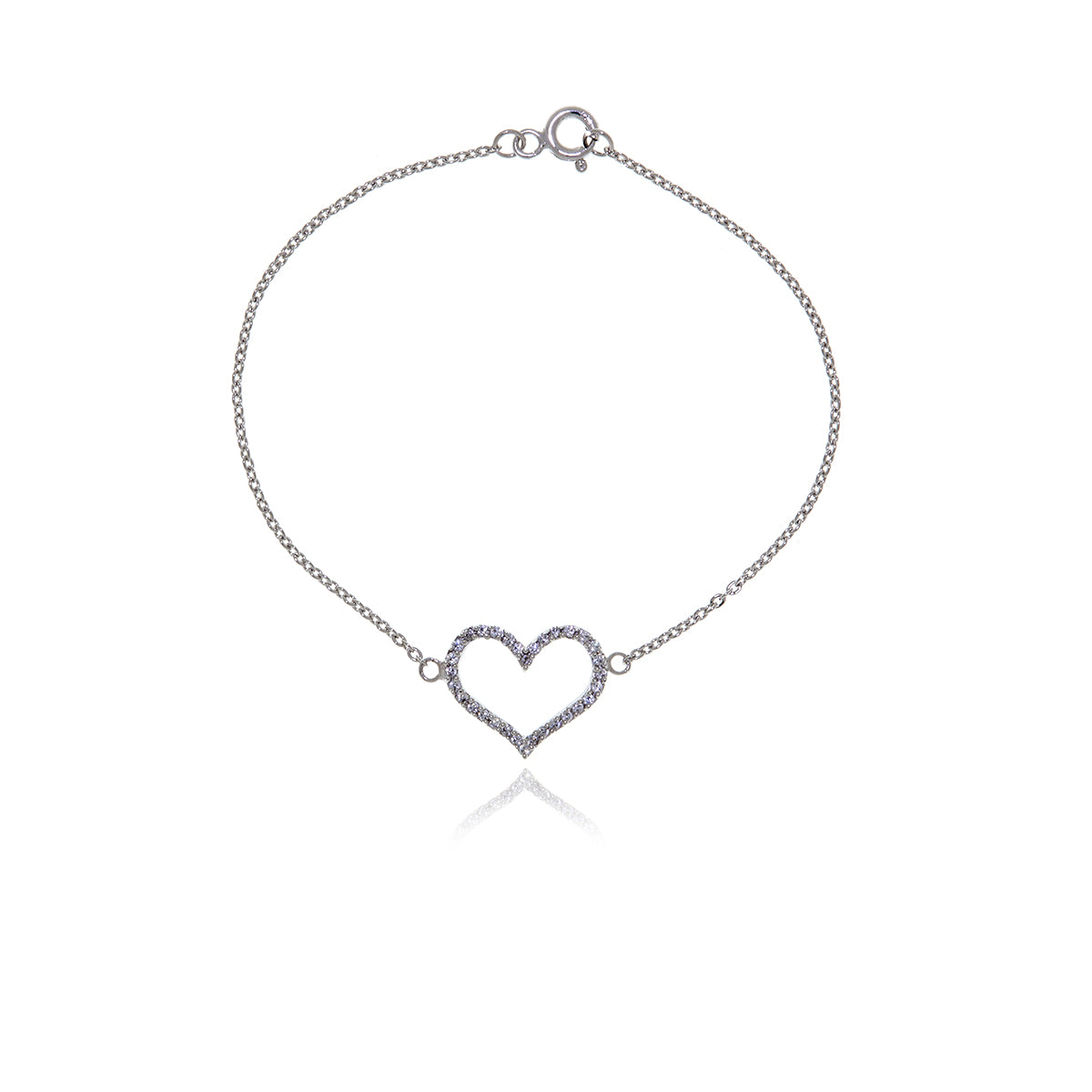 Infinity Diamond Gold Heart Bracelet - Georgina Jewelry