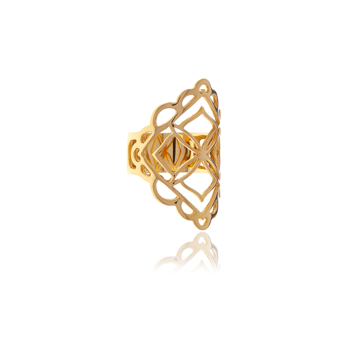 Signature Diamond Shape Gold Ring - Georgina Jewelry