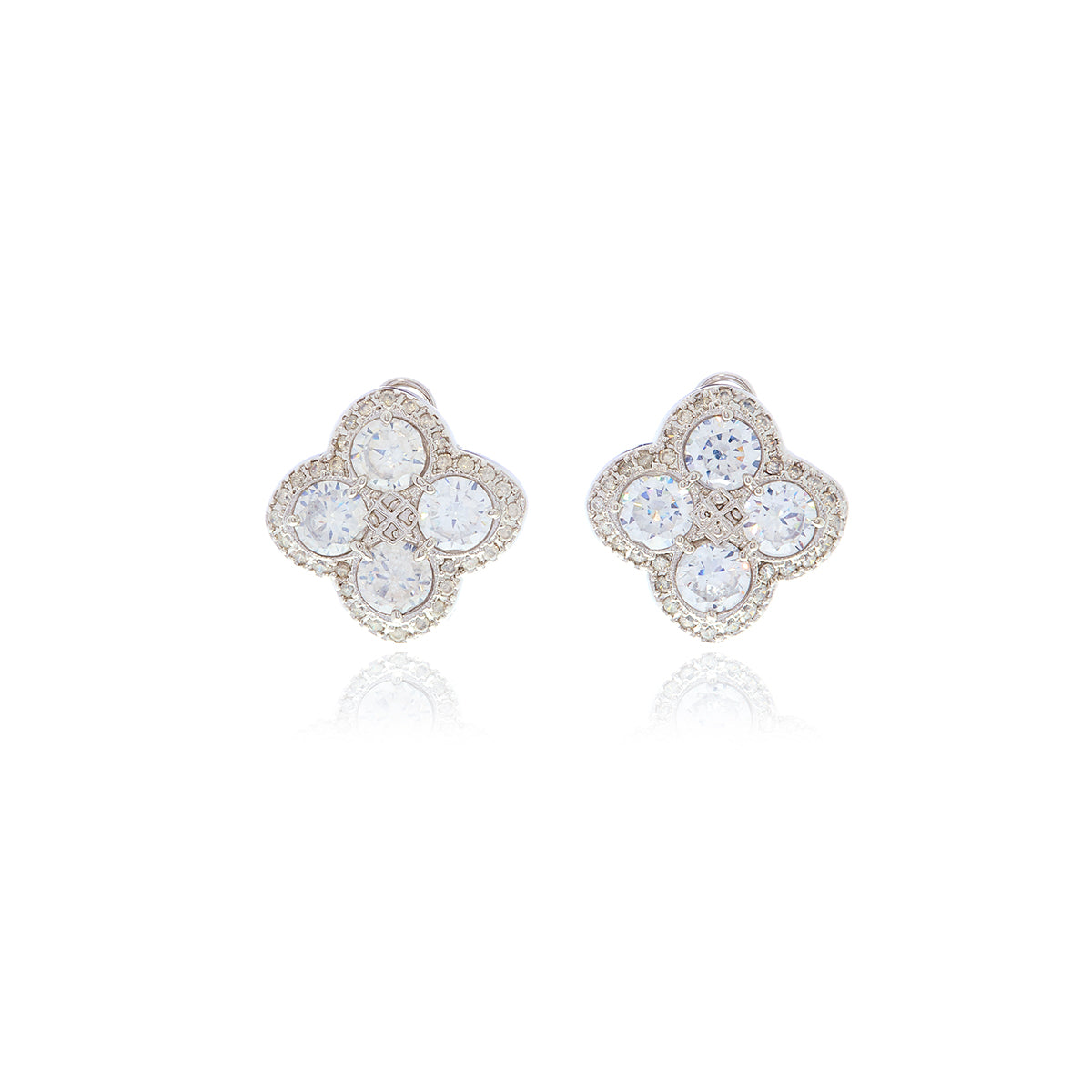 Chandler Diamond Flower Earrings - Georgina Jewelry