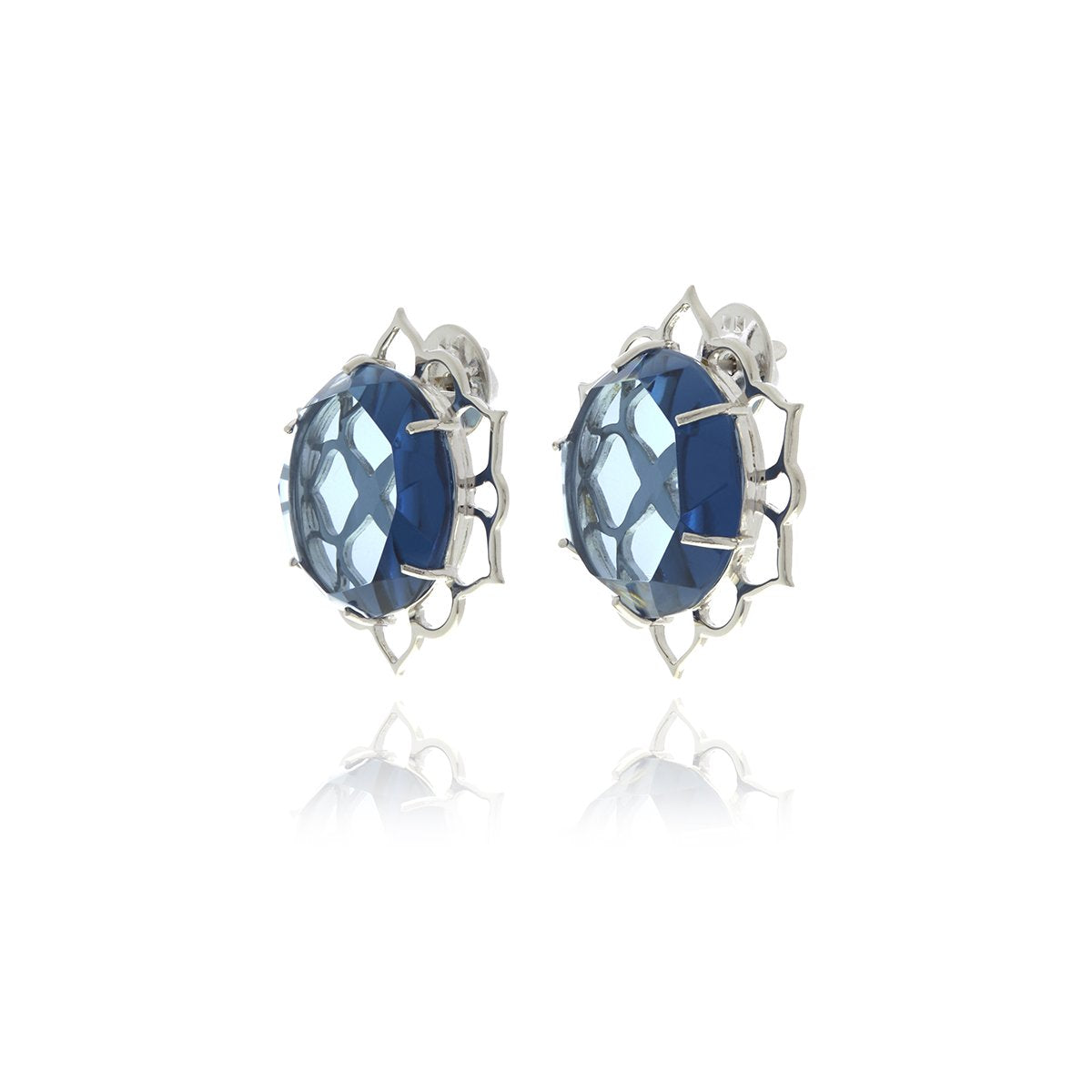 Signature Crystal Flower Cufflinks - Georgina Jewelry
