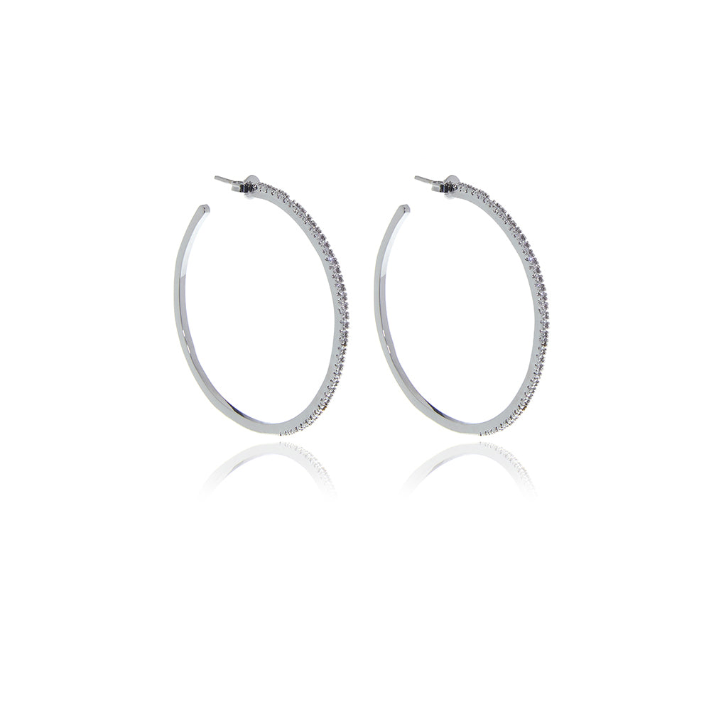 Signature Gold  Hoops Diamond Cut Earrings - Georgina Jewelry