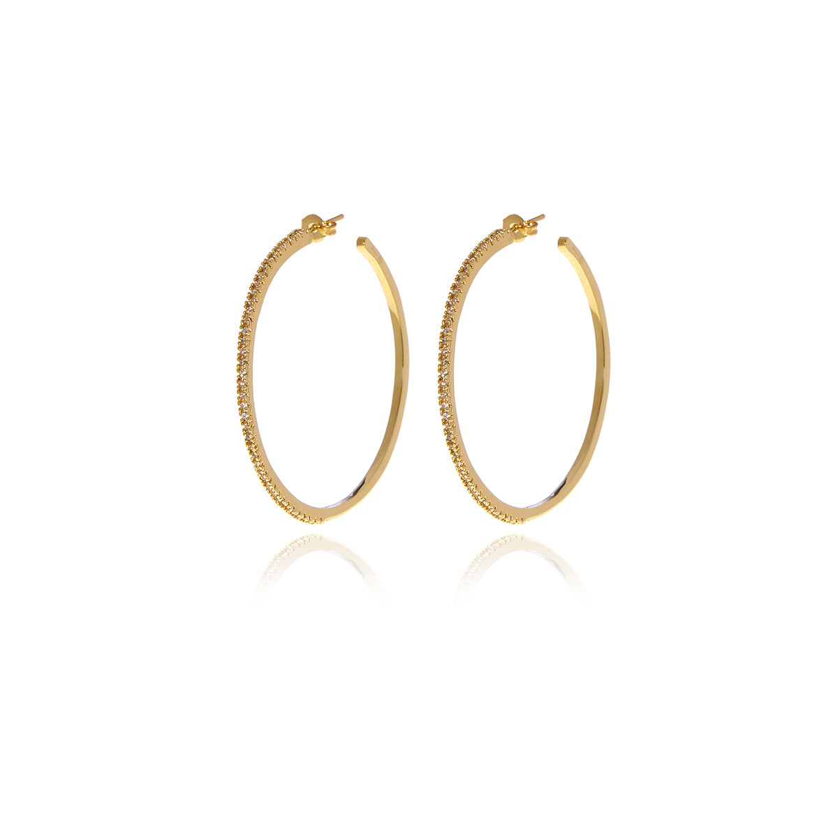 Signature Hoops Diamond Cut Earrings - Georgina Jewelry