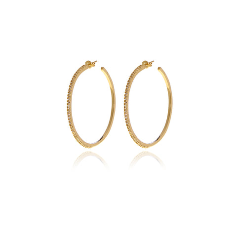 Signature Gold Crystal Earrings