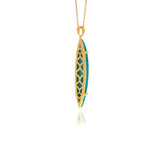 Signature  Feather Onyx Pendant - Georgina Jewelry